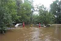 photo of flooded Creek Road