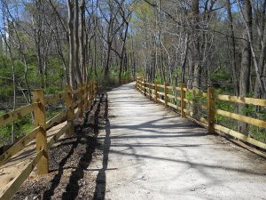 photo of trail just south of the Laird Campus spur
