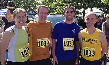 photo of Creek Road Runners team for 2012 Delaware Marathon relay