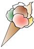 Caffé Gelato waffle cone logo