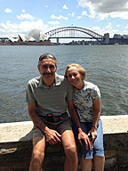 photo of Dan and Sue Simmons at Sydney harbor