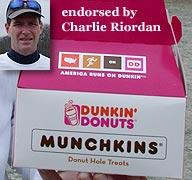 Charlie runs on Dunkin'