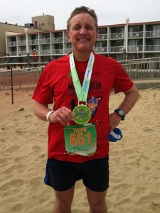 photo of Tripp Shenton after Yeungling Shamrock Marathon