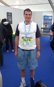 photo of CRR Paul Amer before the Geneva Half Marathon