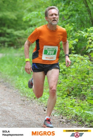 photo of Martin Wolfer during the SOLA relay