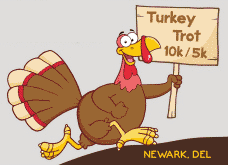 Newark Turkey Trot 10K/5K cartoon