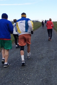 photo of runners heading up the first incline
