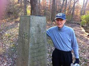 photo of Bob Bennett at the Arc Corner Monument