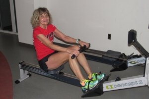 photo of Diane Kukich rowing