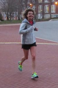 photo of Diane Kukich running