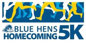 Blue Hens Homecoming 5K logo