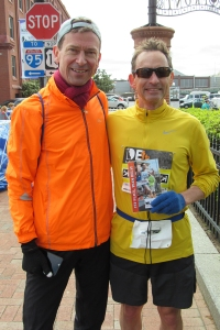 photo of Bruce Weber and Bill Farquhar after the race