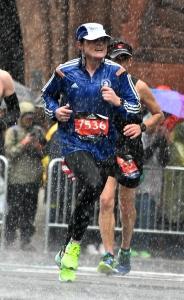 photo of Jo Baird in 2018 Boston Marathon
