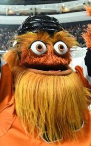 photo of Philadelphia Flyers mascot, Gritty