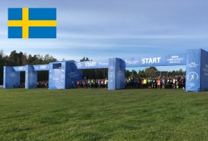 photo of starting line in cross-country race