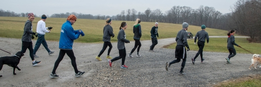 photo of runners beginning the 20th annual New Year's Eve event at Fair Hill