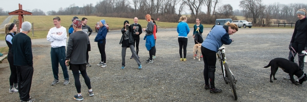 photo of the group after the run