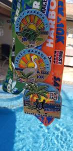 photo of medals from Safety Harbor 5K and 10K