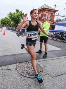photo of Katarina Smiljanec finishing