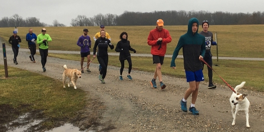 photo at the start of the 2019 trail run
