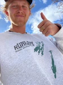 photo of Sam Parsons in CRR sweatshirt