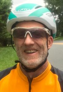 photo of Steve Tague as a cyclist