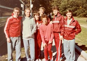 1984 photo of Harvard runners